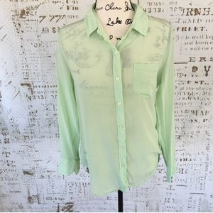 Madewell's Broadway & Broome silk button down S F5